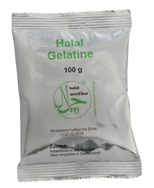 Halal-Gelatine 100g-Tüte
