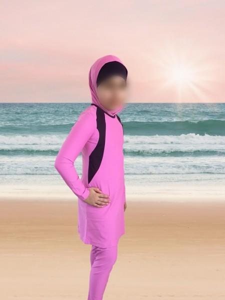 Kinder Badeanzug SEBU rosa - Burkini